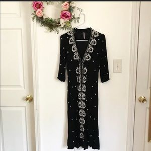 Free People fable embroidery dress